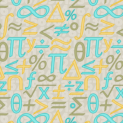 Jazzy Math Symbols (lt) fabric by jjtrends on Spoonflower - custom fabric