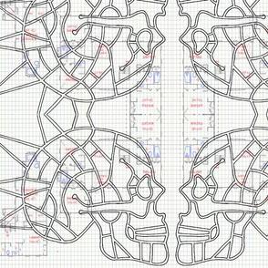 Spiked Skull Map (design 2)-ed-ed