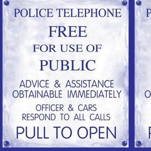 Police Box Sign
