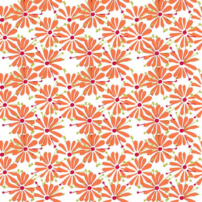 Retro Daisy Orange