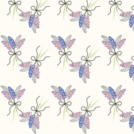 Bluebell Posie fabric by lulabelle on Spoonflower - custom fabric