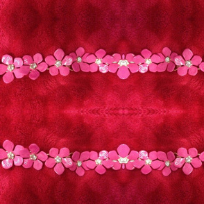 Pink bling flowers
