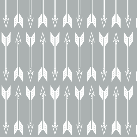 arrows // grey - Northern Lights Collection fabric by littlearrowdesign on Spoonflower - custom fabric