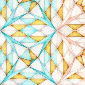 Pink and Aqua Shards of Glass