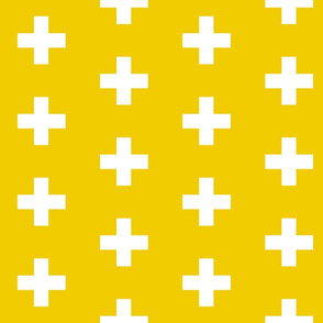 Golden Yellow Crosses - Yellow Plus Signs