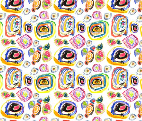 Crayon Crazy fabric by stitchandyarn on Spoonflower - custom fabric