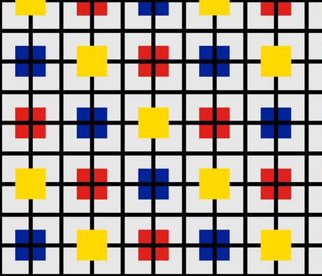 Plaid 2 for men who like Mondrian by Su_G fabric by su_g on Spoonflower - custom fabric