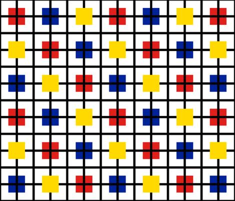 A plaid for Mondrian by Su_G fabric by su_g on Spoonflower - custom fabric