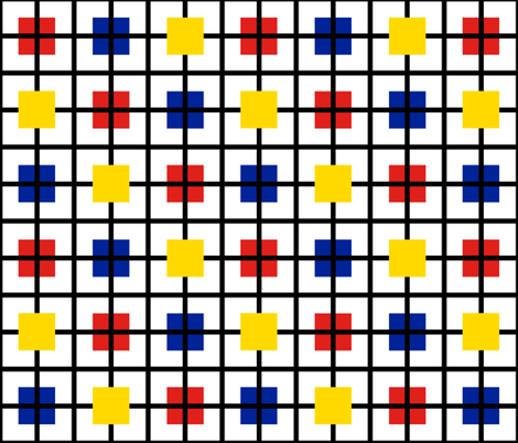 A plaid for Mondrian by Su_G fabric by su_g on Spoonflower - custom fabric