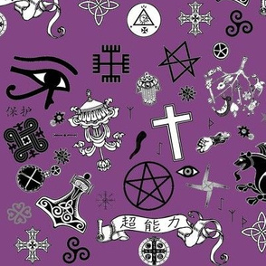 protection symbols - purple