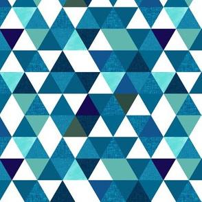 indigo triangles // small