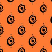 Atomic Shape 2 small on Orange