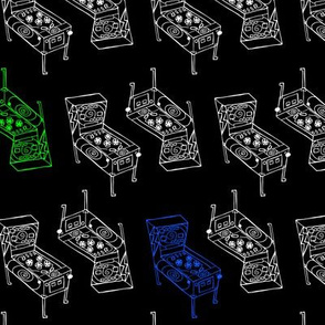 Pinball Machines in RGB palette (BLACK)