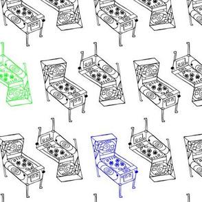 Pinball Machines in RGB palette (WHITE)