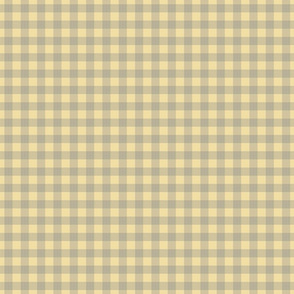 gingham mesh grey on butter