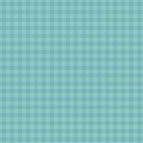 gingham mesh powder blue on mint