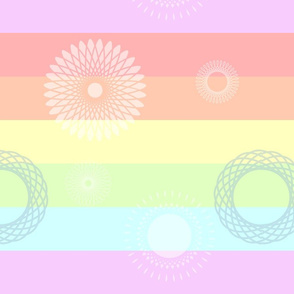Rainbow Spirographs