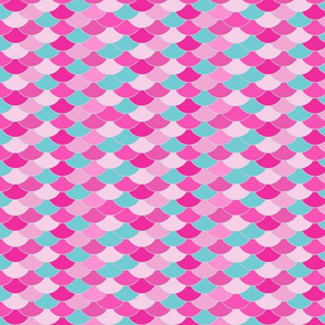 dragon scales pink and mint