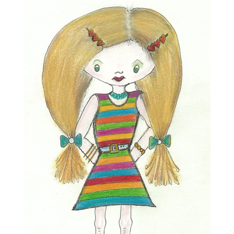 girlfriend_original_1-ed fabric by abbatedesignstudio on Spoonflower - custom fabric