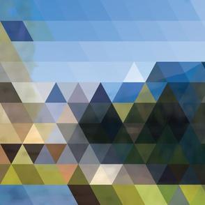 Portland mountainscape geo