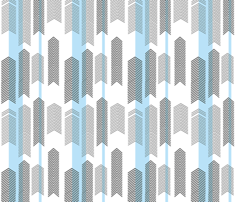 SMALLSCALE chevron stripe in sky blue fabric by cristinapires on Spoonflower - custom fabric