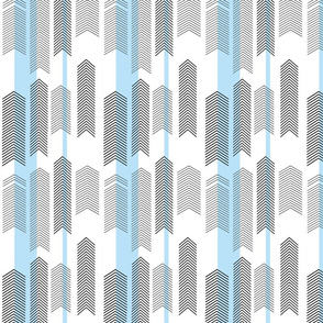 SMALLSCALE chevron stripe in sky blue
