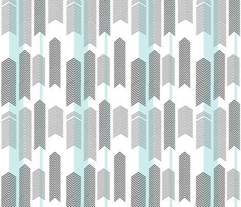 SMALLSCALE chevron stripe in mint fabric by cristinapires on Spoonflower - custom fabric
