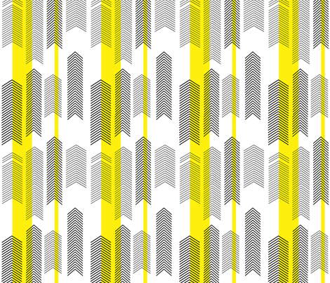 SMALLSCALE chevron stripe in yellow fabric by cristinapires on Spoonflower - custom fabric