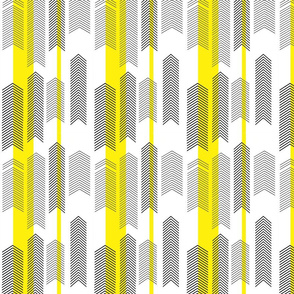 SMALLSCALE chevron stripe in yellow