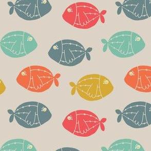 colourful school of fish