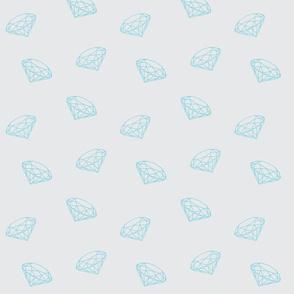 Lightblue diamonds on lightgrey small-ch-ch