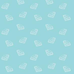 White diamonds on lightblue small-ch-ch-ch-ch