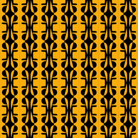 Lattice Fence Gold Black fabric by eve_catt_art on Spoonflower - custom fabric