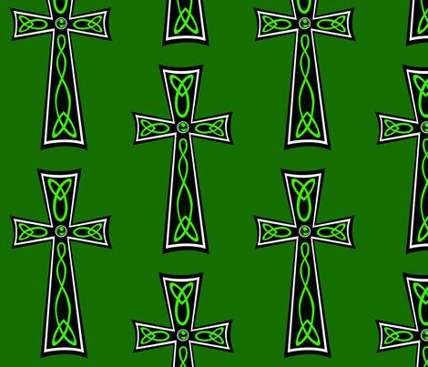 Celtic Cross fabric by rlfedun on Spoonflower - custom fabric