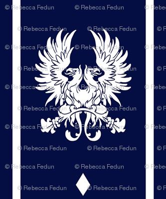 Grey Warden Heraldry Fabric Rlfedun Spoonflower