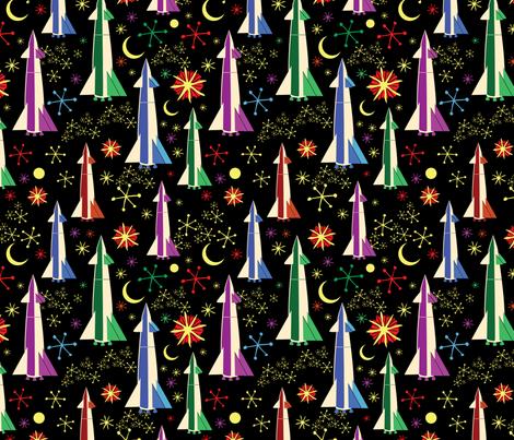 Rainbow Rockets fabric by vinpauld on Spoonflower - custom fabric