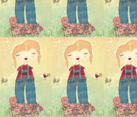girlfriends_20003-ed-ed fabric by abbatedesignstudio on Spoonflower - custom fabric