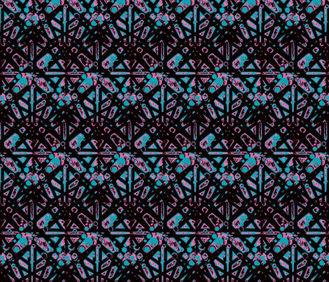 Intertwined teal fabric by inniv8z_oz on Spoonflower - custom fabric