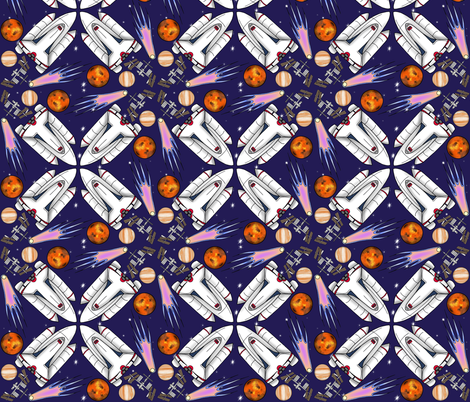 Space fabric beckagriffin spoonflower for Spaceman fabric