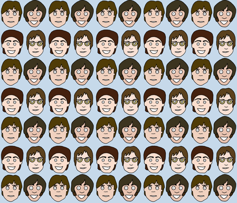 Beatles fabric by beckagriffin on Spoonflower - custom fabric