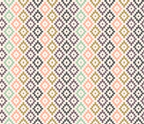 Tribal Geometric Navajo Southwest Boho Nursery Diamonds fabric by laurawrightstudio on Spoonflower - custom fabric
