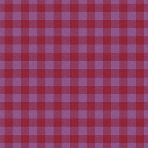 gingham mesh red lilac