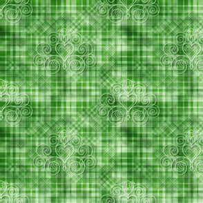 Emerald Gingham Damask