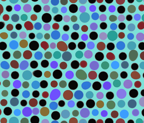 Mod Blots Aqua fabric by elramsay on Spoonflower - custom fabric
