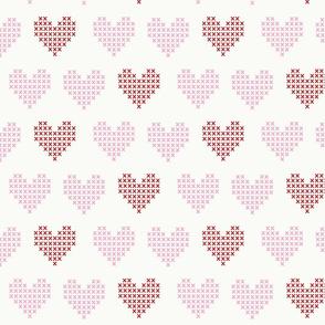pink red hearts valentine