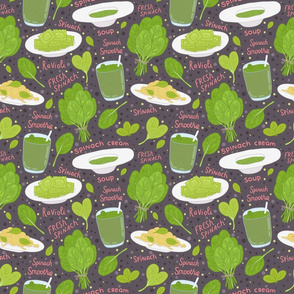 spinach pattern dark