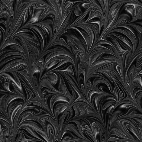 Metallic-Black-Swirl fabric - modernmarbling - Spoonflower
