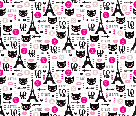 Paris Mon Amour Cute Eiffel Tower Kitten And Love Icons For
