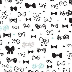 Hipster fashion bow tie illustration quirky clothes illustration print