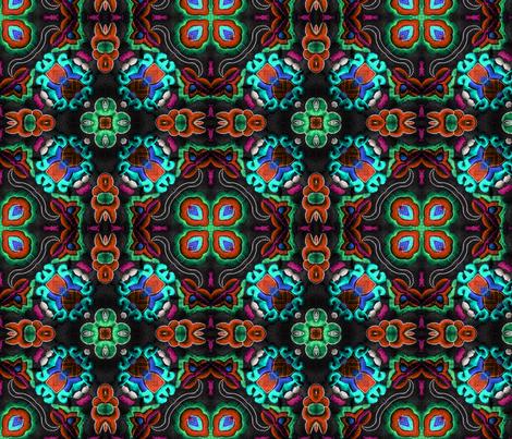 frida folk 2 fabric by kociara on Spoonflower - custom fabric